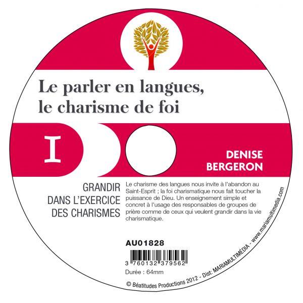 Les langues, le charisme de foi – CD