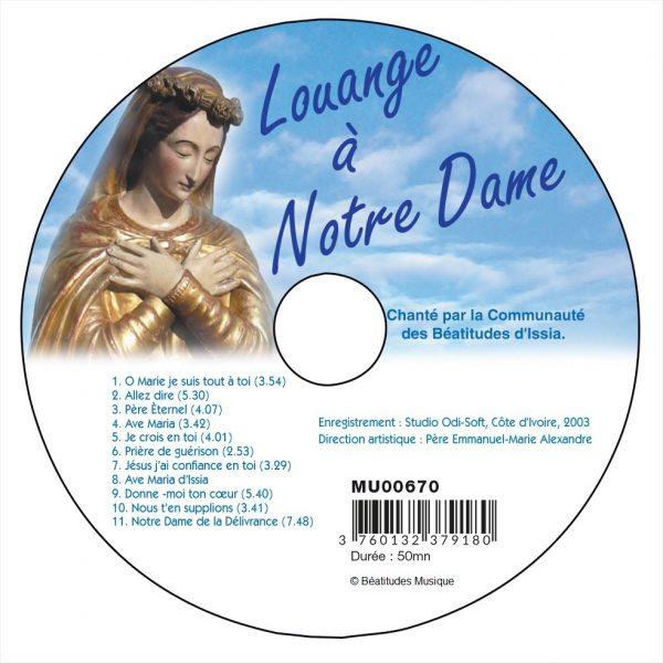 Louange à Notre-Dame – CD