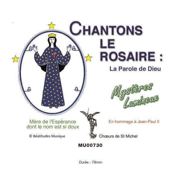 Chantons le rosaire, mystères lumineux – CD