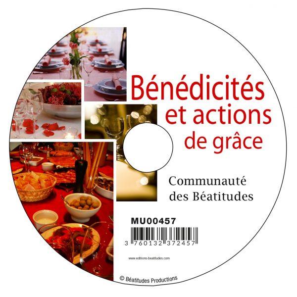 Bénédicités et actions de grâce – CD